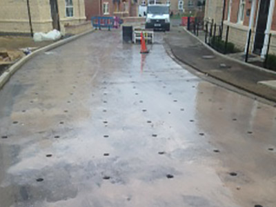 permeable road surface drilling