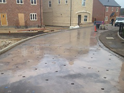 road prep for permeable surface